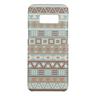 Capa Case-Mate Samsung Galaxy S8 Terracottas de creme azuis do teste padrão asteca