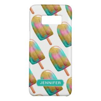 Capa Case-Mate Samsung Galaxy S8 Teste padrão colorido legal do Popsicle com nome