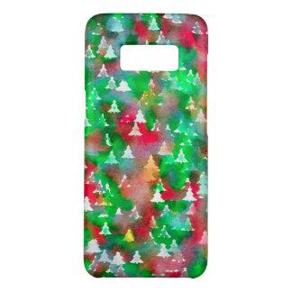 Capa Case-Mate Samsung Galaxy S8 Teste padrão da aguarela da árvore de Natal