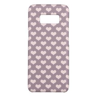 Capa Case-Mate Samsung Galaxy S8 teste padrão de bolinhas roxo dos corações do amor