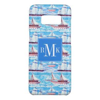 Capa Case-Mate Samsung Galaxy S8 Teste padrão dos navios de navigação da aguarela
