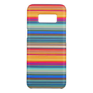 Capa Case-Mate Samsung Galaxy S8 Teste padrão listrado multicolorido