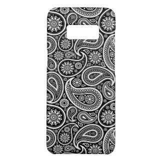 Capa Case-Mate Samsung Galaxy S8 Teste padrão preto & branco de Paisley