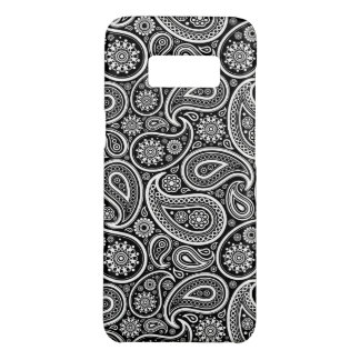 Capa Case-Mate Samsung Galaxy S8 Teste padrão preto & branco elegante de Paisley