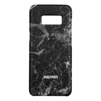 Capa Case-Mate Samsung Galaxy S8 Textura de pedra de mármore preta