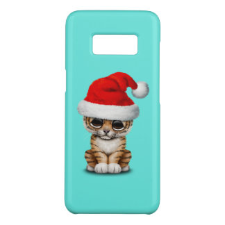 Capa Case-Mate Samsung Galaxy S8 Tigre Cub bonito que veste um chapéu do papai noel