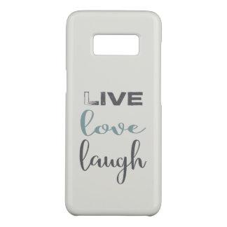 Capa Case-Mate Samsung Galaxy S8 Tipografia viva do riso do amor