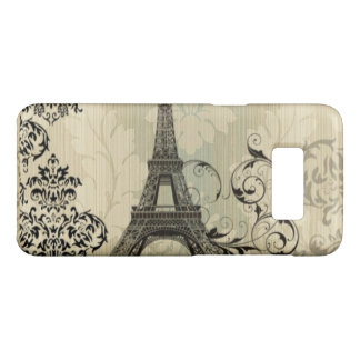 Capa Case-Mate Samsung Galaxy S8 Torre Eiffel bege chique de Paris do damasco de