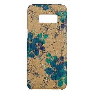 Capa Case-Mate Samsung Galaxy S8 Turquesa havaiana da madeira do falso do jardim da