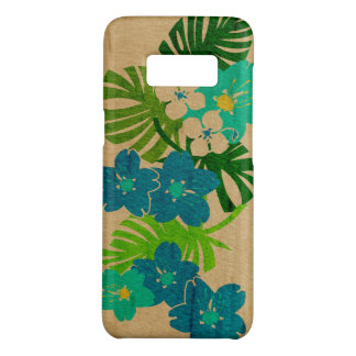 Capa Case-Mate Samsung Galaxy S8 Turquesa havaiana da madeira do falso do jardim de