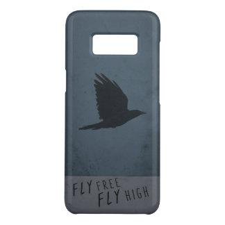 Capa Case-Mate Samsung Galaxy S8 Um corvo em vôo no fundo azul & cinzento sujo