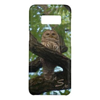 Capa Case-Mate Samsung Galaxy S8 Uma coruja barrada em um ramo nas madeiras
