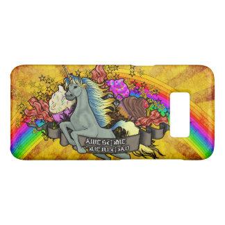 Capa Case-Mate Samsung Galaxy S8 Unicórnio, arco-íris & bacon impressionantes da