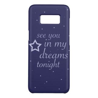 """Capa Case-Mate Samsung Galaxy S8 """"veja-o texto nos meus sonhos hoje à noite"""" com"""
