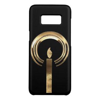 Capa Case-Mate Samsung Galaxy S8 Vela elegante do olhar do preto e do ouro com halo