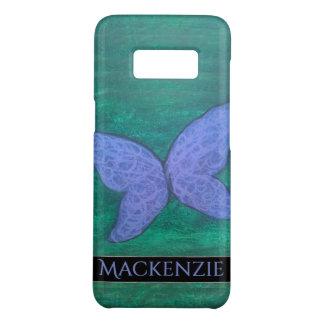 Capa Case-Mate Samsung Galaxy S8 Verde azul roxo da asa da borboleta apaixonado da