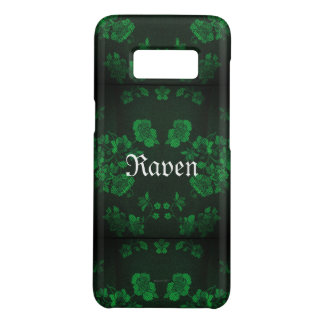 Capa Case-Mate Samsung Galaxy S8 Verde eterno gótico de Name* do *Your