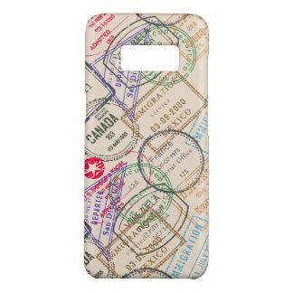 Capa Case-Mate Samsung Galaxy S8 Viagem dos selos do passaporte