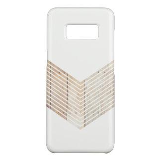 Capa Case-Mate Samsung Galaxy S8 Viga minimalista branca com madeira