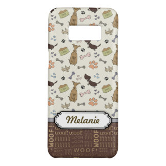 Capa Case-Mate Samsung Galaxy S8 WOOF! Amante do cão - teste padrão dos filhotes de