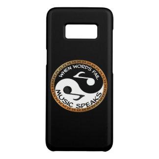 Capa Case-Mate Samsung Galaxy S8 Yin Yang com palavras da música