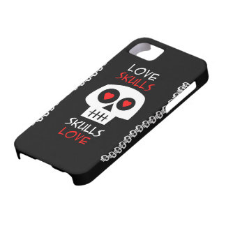 Capa Celular iPhone 5 Skulls Love