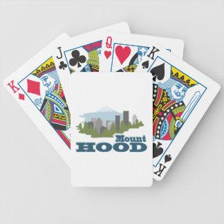 Capa da montagem baralhos de pôquer
