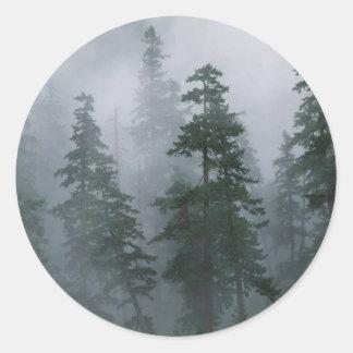Capa da montagem da tempestade do esclarecimento d adesivo redondo