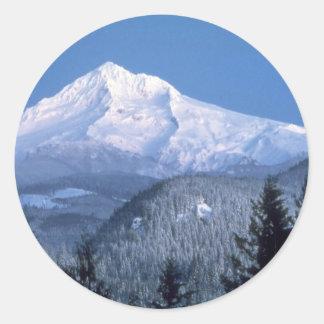 Capa da montagem, Oregon Adesivo Em Formato Redondo