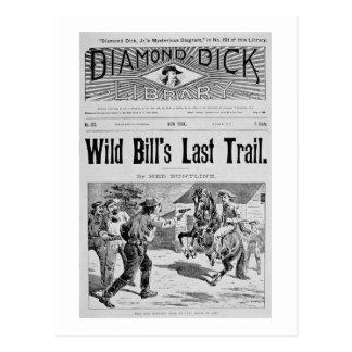 """Capa """"da última fuga de Bill selvagem"""", um bolo de Cartao Postal"""