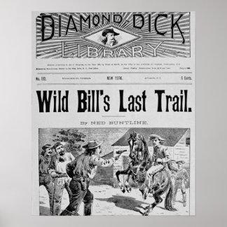Capa da última fuga de Bill selvagem um bolo de Impressão