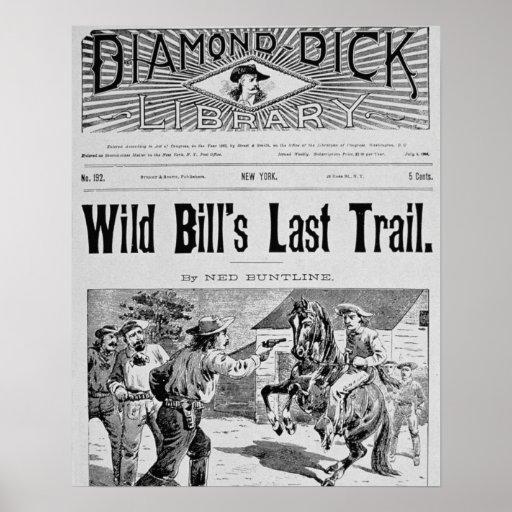 """Capa """"da última fuga de Bill selvagem"""", um bolo de Impressão"""