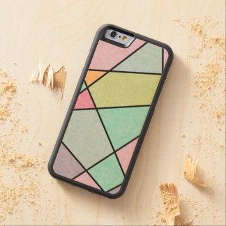Capa De Bordo Bumper Para iPhone 6 Abstrato do pastel do fosco geométrico por