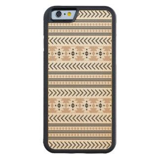 Capa De Bordo Bumper Para iPhone 6 Amêndoa geométrica do teste padrão do impressão