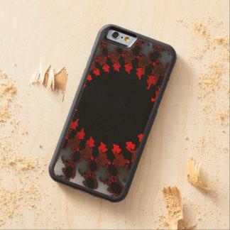 Capa De Bordo Bumper Para iPhone 6 Branco preto vermelho do Fractal