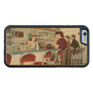 Capa De Bordo Bumper Para iPhone 6 Café - o lugar frequentado local 1941