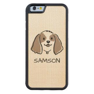 Capa De Bordo Bumper Para iPhone 6 Cão dos desenhos animados de cocker spaniel -