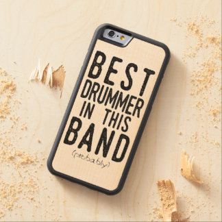Capa De Bordo Bumper Para iPhone 6 O melhor baterista (provavelmente) (preto)