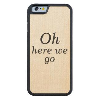 Capa De Bordo Bumper Para iPhone 6 Oh aqui nós vamos caso