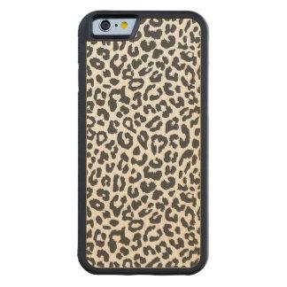 Capa De Bordo Bumper Para iPhone 6 Padrões pretos & brancos da pele animal do