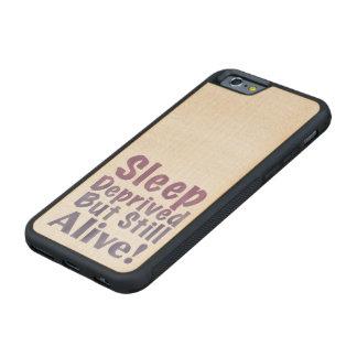 Capa De Bordo Bumper Para iPhone 6 Sono destituído mas ainda vivo em roxos sonolentos