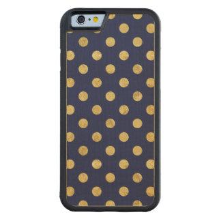 Capa De Bordo Bumper Para iPhone 6 Teste padrão de bolinhas elegante da folha de ouro