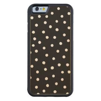 Capa De Bordo Bumper Para iPhone 6 Teste padrão de pontos preto e branco dos confetes