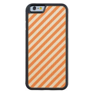 Capa De Bordo Bumper Para iPhone 6 Teste padrão diagonal alaranjado e branco das