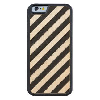 Capa De Bordo Bumper Para iPhone 6 Teste padrão diagonal preto e branco das listras
