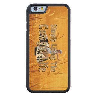 Capa De Bordo Bumper Para iPhone 6 Vida simplesmente viva da vaqueira do T