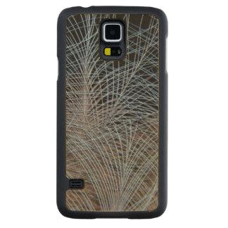 Capa De Bordo Para Galaxy S5 Abstrato cinzento da pena