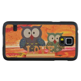 Capa De Bordo Para Galaxy S5 Amor da coruja