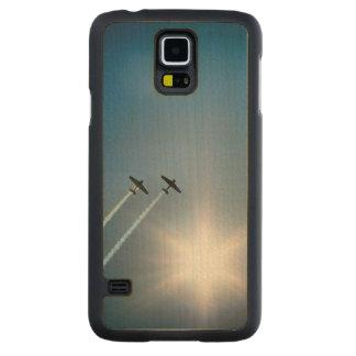 Capa De Bordo Para Galaxy S5 Aviões que voam no céu azul com Sun.