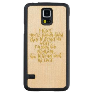 Capa De Bordo Para Galaxy S5 Citações do amor: Duro de tentativa lá para
